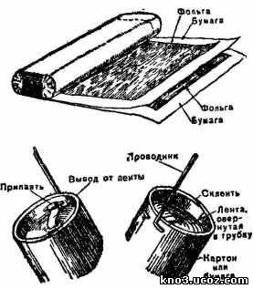 Как сделать самому конденсатор